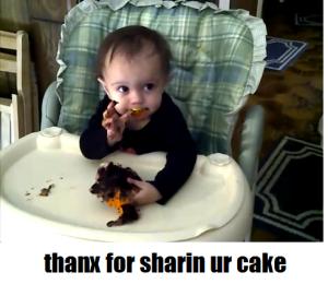 thanx for sharin ur cake